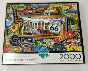 Route 66-America's Main Street 2000 Piece Jigsaw Puzzle Buffalo #92000 Kate Ward