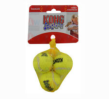 KONG Air Dog Squeaker Tennis Balls EXTRA SMALL PACK OF 3 - 40mm Diameter Airdog