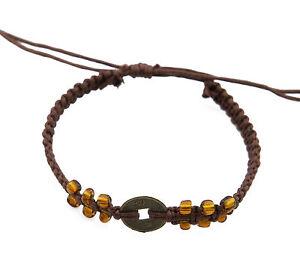 Armband Brasilianisch Mit Sapeques Schmuck Ethnisch Stück Chinesische Braun-
