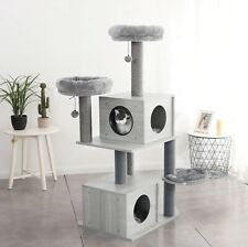"55""- 85"" Cat Tree Tower House Condo Furniture Bed post pet house Cat Play House"