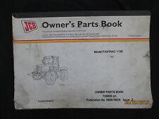 JCB Model Fastrack 1135 Tractor Owners Parts Book Catalog Manual Original