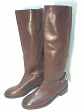 "COLE HAAN ""Adler"" Tall Knee-High Leather/ Suede Boots Brown Size 6.5 M #262"