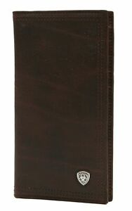 Ariat Performance Work Leather Checkbook/Rodeo Wallet (Dark Copper)