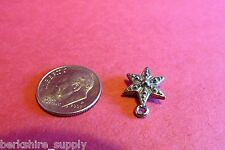 Fifty Pewter Star Charms