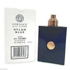 Tester Men Versace Pour Homme Dylan Blue 3.4 / 3.3 oz 100 ml  Edt  New No Cap