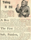 Quack Medicine Ad Beecham's Patent Pill Lancashire England Monk