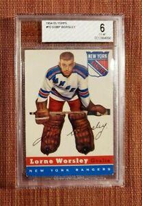 1954 Topps #10 Gump Worsley New York Rangers Vintage Original Hockey Card BVG 6