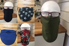 Men's Face Mask for Beard with Nose Wire, Great for Glasses 100% Cotton Anti Fog