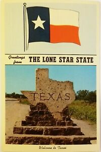 Greetings from The Lone Star State Welcome to Texas Postcard
