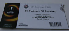 ticket for collectors EL Partizan Beograd FC Augsburg 2015 Serbia Germany