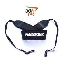 FOR PANASONIC Cinghia Tracolla nero Neck Strap Nylon fotocamera Compatibile nera