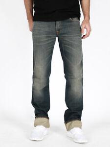 Nudie Herren Regular Fit Jeans Hose   Slim Jim Scraped Seaweed  W30 / W31 L34
