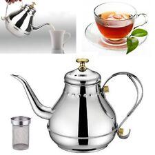 1.2L Capacity Stainless Steel Gooseneck Pour Coffee Drip Kettle Tea Filter Pot