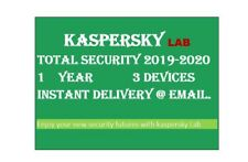 Kaspersky Total Security 2020/3 Devices/1Year|Worldwide|Delivery via message