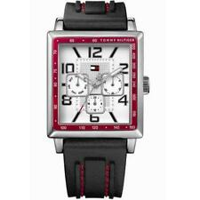 New Tommy Hilfiger Multi-Function Stitched Rubber Men Watch 35x40mm 1790703 $125