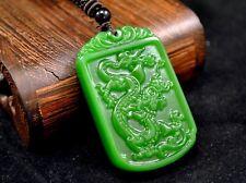 Amulett Drache Jade-Anhänger mit Halskette Schmuck Unikat CHINA