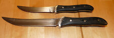 "Vintage Lot of 2  Buck USA Micarta Handle Knife 7 1/2"" Knives 10"" Fixed Blade"