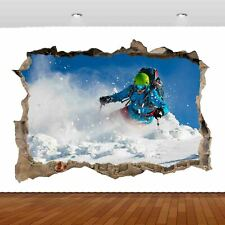 Extreme Sports Snowboard Skiing 3D Mural Decal Wall Sticker Poster Vinyl S318