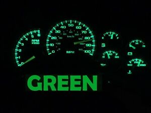 Gauge Cluster LED Dashboard Bulbs Green For Chevy GMC 99 02 Silverado Truck