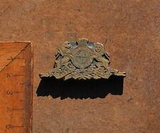 Wappen Krone Löwe Messingornament Zierornament Messing Prägung Ornament Leder