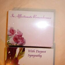 Florist Sympahy cards x 50 non relative quality gift card av 6x9cm floral theme