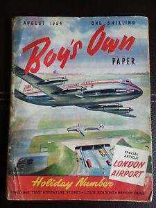 1954 August - Boys Own Paper - London Airport edition