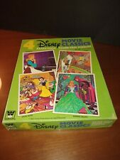 "Lot of 4 Vintage Disney Movie Classics Whitman Frame-Tray Puzzles  8""x10"" in Box"