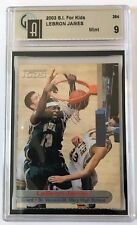 LEBRON JAMES ROOKIE CARD 2003 SPORTS ILLUSTRATED FOR KIDS GAI 9 MINT RARE!!!!
