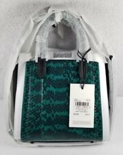 Coach Troupe Tote 16 In Genuine Snakeskin Bag Pine Green - NWT MSRP $495