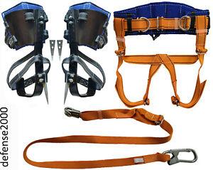 Baumsteigeisen Baumpflege, Sicherheitsgurt Klettergurt. Zum Klettern auf Bäum