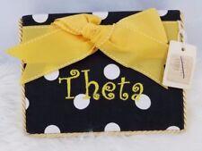 Theta Sorority Photo Album Handmade Nwt 4x6 Black Yellow Bow Brittany Stover )