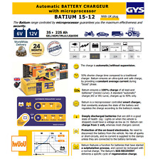 GYS batium Caricabatteria 6V-12V 35-225ah microprocessore controllato automatico