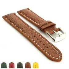 Men's Padded Genuine Shark Leather Skin Watch Strap Band 18 20 22 24 VIP MM