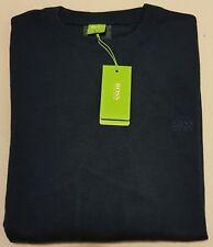 BNWT Mens Size XL HUGO BOSS Blue Navy Jumper Sweater Pullover Top Shirt Italy