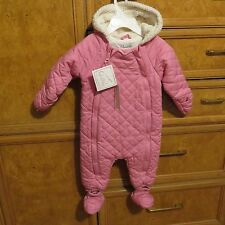 infant girls Quiltex one piece double zip snowsuit bunting pink 6-9M NWT $78