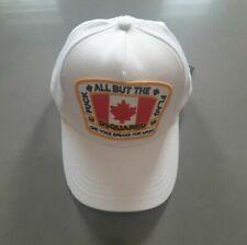 Dsquared2 White Baseball Cap snapback meshback Canadian Flag Free Post Brand new