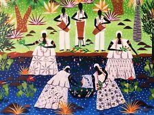 Tableau Art Naïf Brésilien signé Wilson Gouvêa - Parfait état
