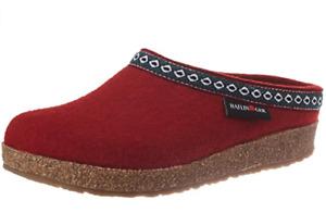 HAFLINGER GZL Grizzly Franzl Rubin RED cork wool Slipper US 12  EU 45