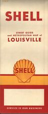 1961 Shell Road Map: Louisiana NOS
