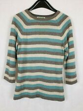 Queen & Country Female Small Jumper Multi Striped Cashmere Blend Preloved