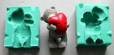 Silicone Mould 3D BIG BEAR WITH HEART Cake Decorating Fondant / fimo mold