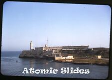 1949 red border kodachrome Photo slide  Havana Cuba lighthouse Morro Castle