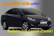 Chrome Radiator Grill Center Garnish Silver 3Pcs C743 for Hyundai ACCENT 2011~18