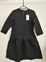 COUNTRY ROAD sz S ❤️ BNWT WOMENS LADIES SLV PONTE DR BLACK DRESS RRP$149.00