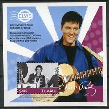 Tuvalu 2016 MNH Elvis Presley His Life in Stamps 1v S/S I Five Gold Records