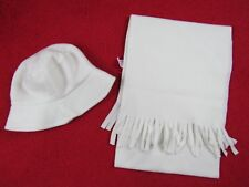 Unbranded White Adorable Toddler Girl Winter Hats and Scarf set Size: Os,