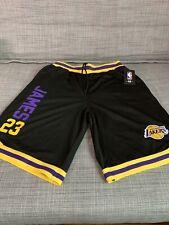 NBA Lebron James Black Yellow Purple Lakers Shorts and Shirt Men Size L Vsm4100h