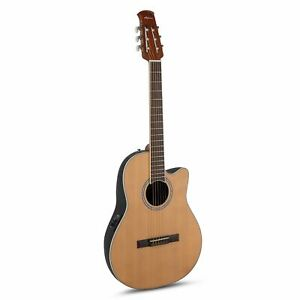 Ovation Applause Acoustic/Electric Classical Guitar Cutaway Nylon String Cedar T