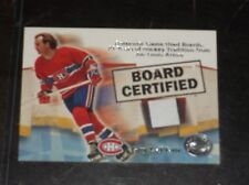 2001 FLEER GUY LAFLEUR GAME USED BOARD HOCKEY CARD