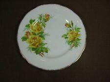 Royal Albert White Bone China Yellow Tea Rose Side/Dessert/Snack Plate Gold Trim